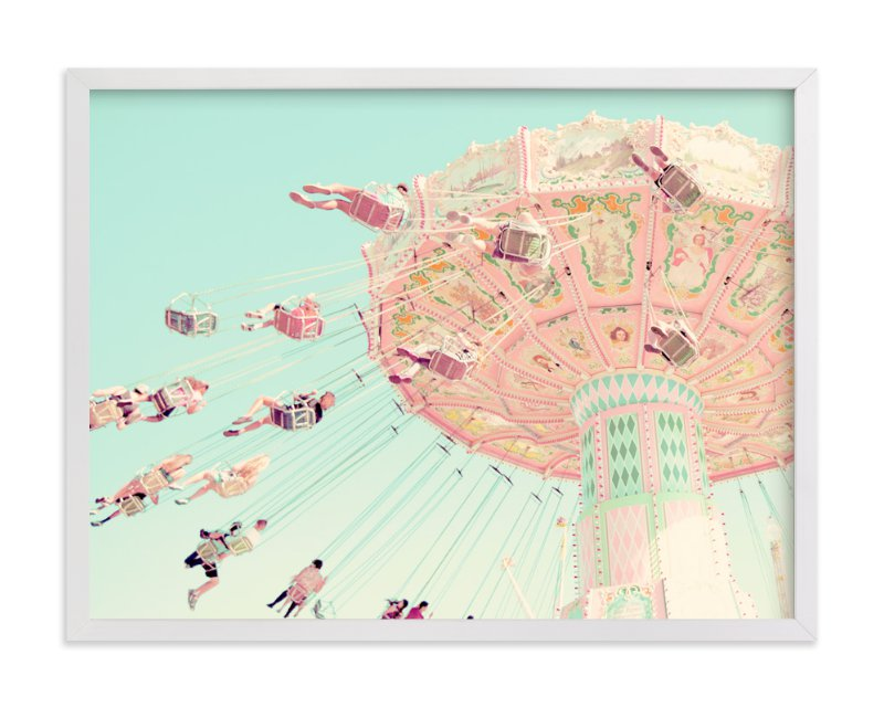 """Sky Coasters"" - Art Print by Stephanie Sherman in beautiful frame options and a variety of sizes."