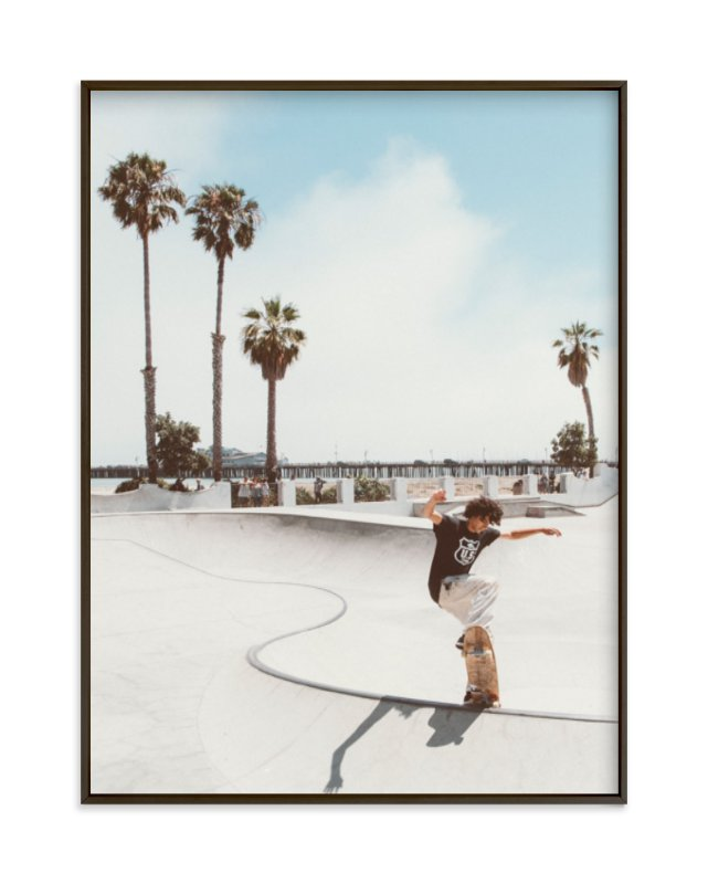 """""""Santa Barbara Skate I"""" - Limited Edition Art Print by Kamala Nahas in beautiful frame options and a variety of sizes."""