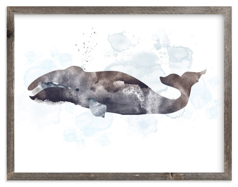 """""""Whale Series Four"""" - Limited Edition Art Print by Shirley Lin Schneider in beautiful frame options and a variety of sizes."""