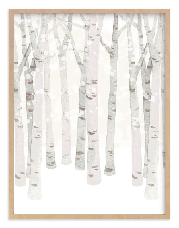 """Birch Woods in Winter"" - Limited Edition Art Print by Four Wet Feet Studio in beautiful frame options and a variety of sizes."