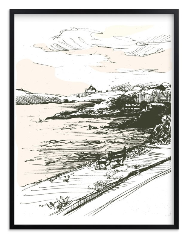 """""""the drive"""" - Limited Edition Art Print by pottsdesign in beautiful frame options and a variety of sizes."""