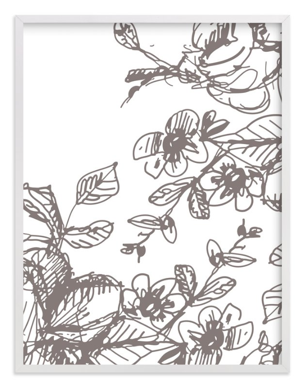 """Botanical Sketch 2"" - Limited Edition Art Print by Phrosne Ras in beautiful frame options and a variety of sizes."