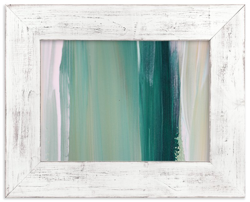 """""""Emerald Blades"""" - Limited Edition Art Print by Artsy Canvas Girl Designs in beautiful frame options and a variety of sizes."""