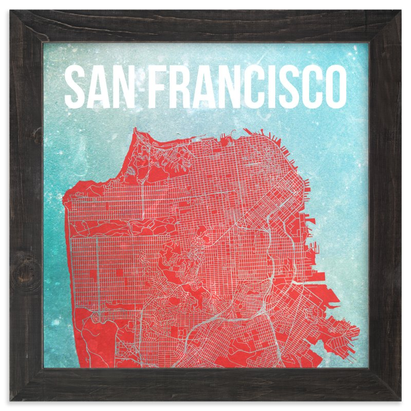 Map Of San Francisco Wall Art Prints By Alex Elko Design | Minted