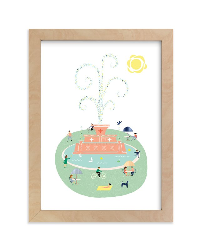"""""""The Fountain"""" - Limited Edition Art Print by Morgan Ramberg in beautiful frame options and a variety of sizes."""
