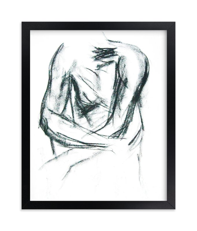 """""""Embrace"""" - Limited Edition Art Print by R studio in beautiful frame options and a variety of sizes."""