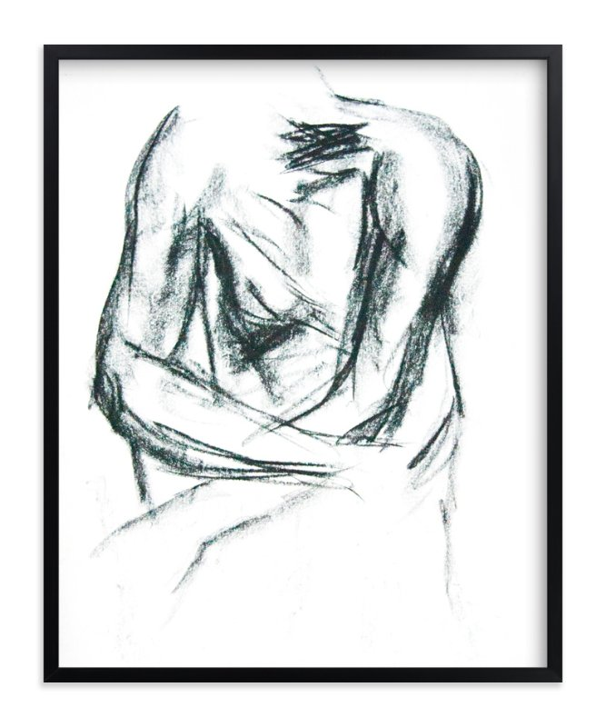 """Embrace"" - Limited Edition Art Print by R studio in beautiful frame options and a variety of sizes."
