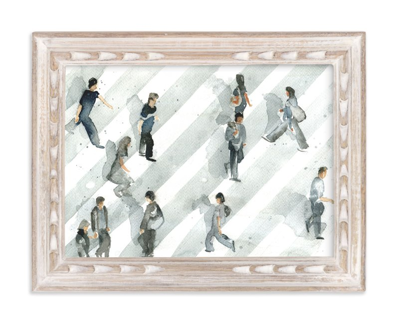 """Rush Hour"" - Art Print by Lulaloo in beautiful frame options and a variety of sizes."
