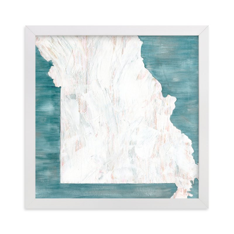 """Missouri in Paint"" - Limited Edition Art Print by Denise Wong in beautiful frame options and a variety of sizes."