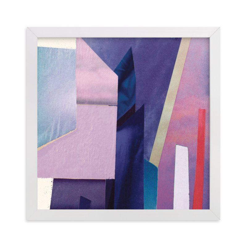 """Violet Towers"" - Limited Edition Art Print by cassie adams in beautiful frame options and a variety of sizes."
