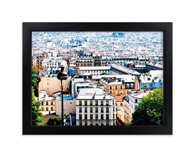 """Rooftops of Paris"" - Limited Edition Art Print by TS Designs in beautiful frame options and a variety of sizes."