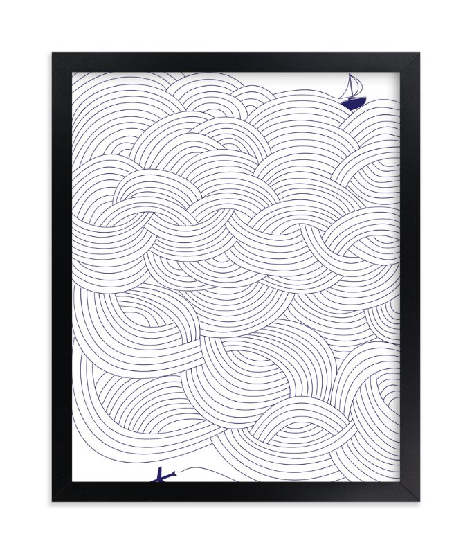 """""""Field of Waves"""" - Limited Edition Art Print by Gina Vicencio in beautiful frame options and a variety of sizes."""
