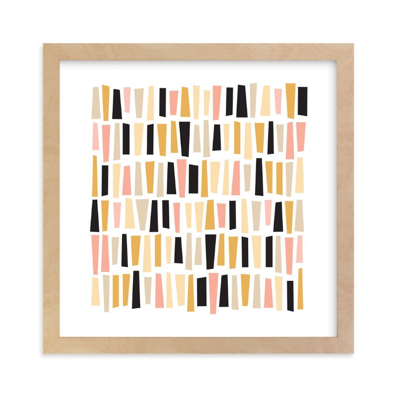 """""""In A Row"""" - Limited Edition Art Print by annie clark in beautiful frame options and a variety of sizes."""