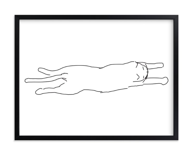 """""""Sleepy Kitty"""" - Limited Edition Art Print by Tyler Tea in beautiful frame options and a variety of sizes."""