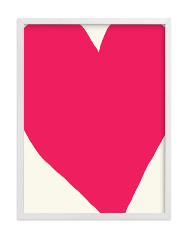 """""""Big Heart"""" - Limited Edition Art Print by Jorey Hurley in beautiful frame options and a variety of sizes."""