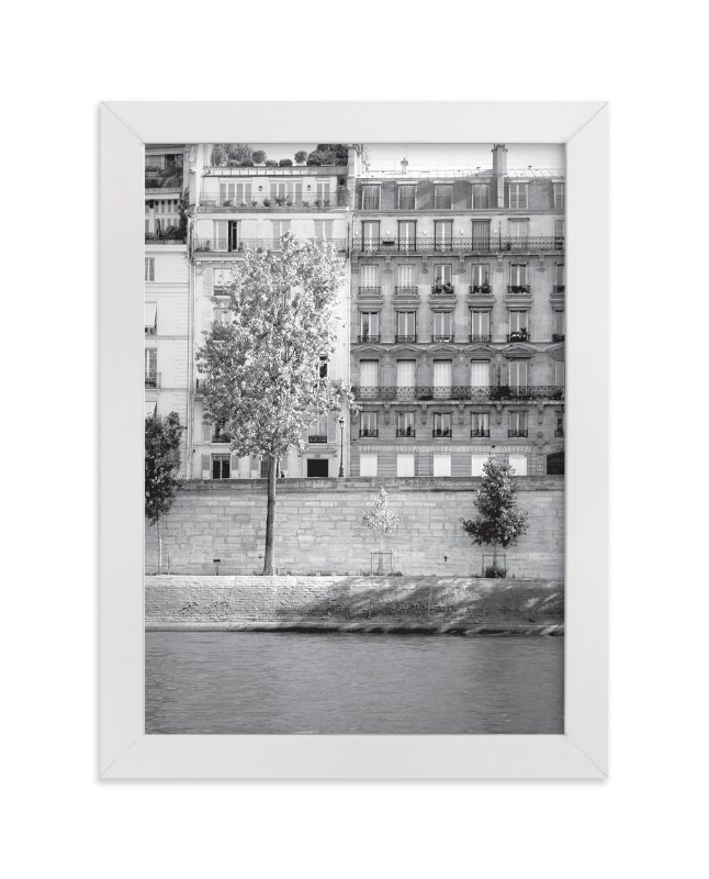 """""""Morning Walk on the Seine"""" - Limited Edition Art Print by Sharon Rowan in beautiful frame options and a variety of sizes."""