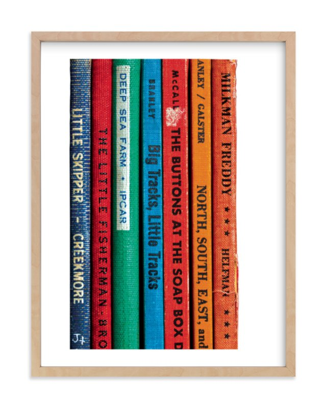 """Little Skipper - Vintage Reading Series"" - Limited Edition Art Print by That Girl Studio in beautiful frame options and a variety of sizes."