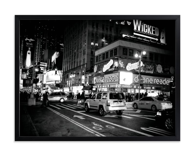 """""""Night in New York"""" - Limited Edition Art Print by Hendro Lim in beautiful frame options and a variety of sizes."""