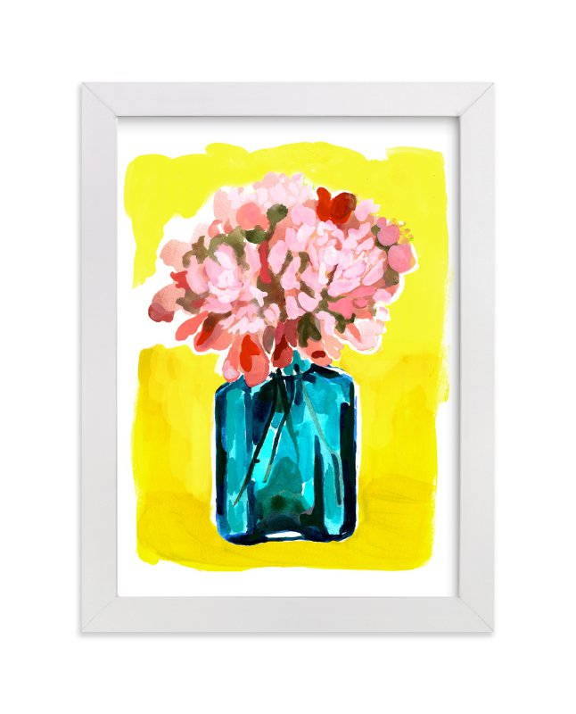 """Peony Bottle"" - Limited Edition Art Print by Betty Hatchett in beautiful frame options and a variety of sizes."