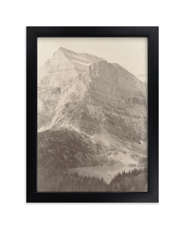 """""""Glacier National Park"""" - Limited Edition Art Print by Brooke Chandler in beautiful frame options and a variety of sizes."""