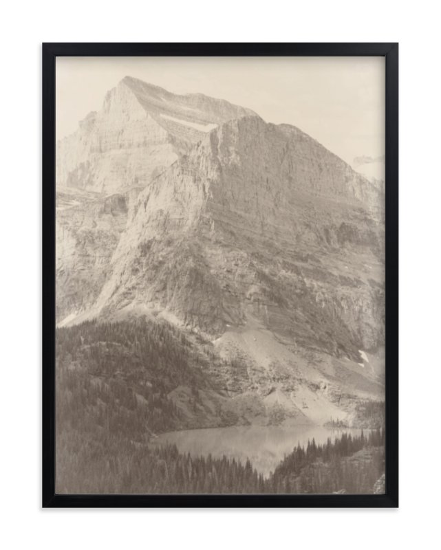 """""""Glacier National Park"""" - Limited Edition Art Print by Paper and Parcel in beautiful frame options and a variety of sizes."""