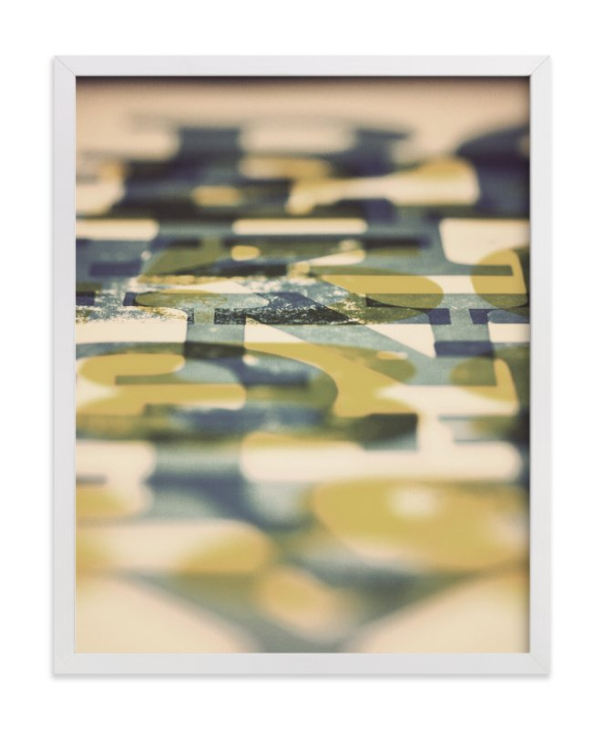 """Letterpress Proof"" - Limited Edition Art Print by 45wall design in beautiful frame options and a variety of sizes."