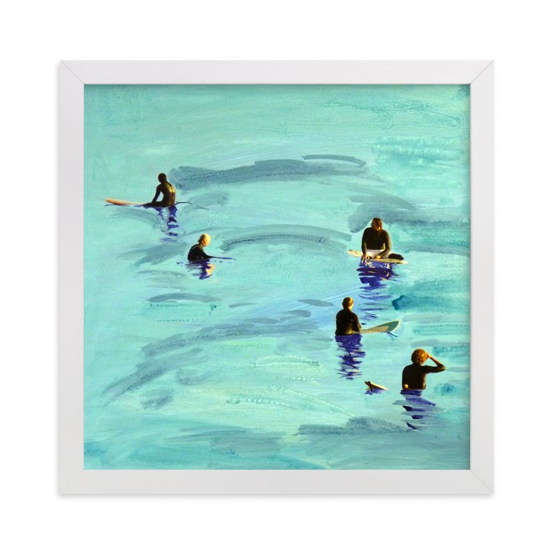 """""""Waiting, Malibu 2012"""" - Limited Edition Art Print by Annie Seaton in beautiful frame options and a variety of sizes."""