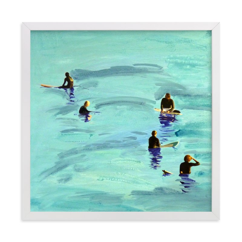 """Waiting, Malibu 2012"" - Limited Edition Art Print by Annie Seaton in beautiful frame options and a variety of sizes."