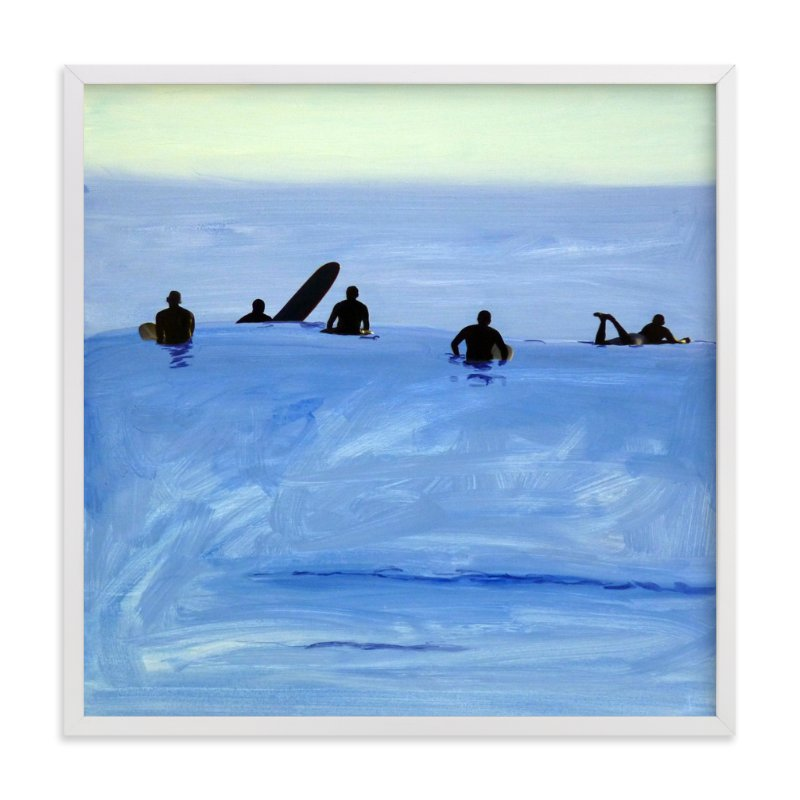 """Waiting For Swell, 2010"" - Limited Edition Art Print by Annie Seaton in beautiful frame options and a variety of sizes."