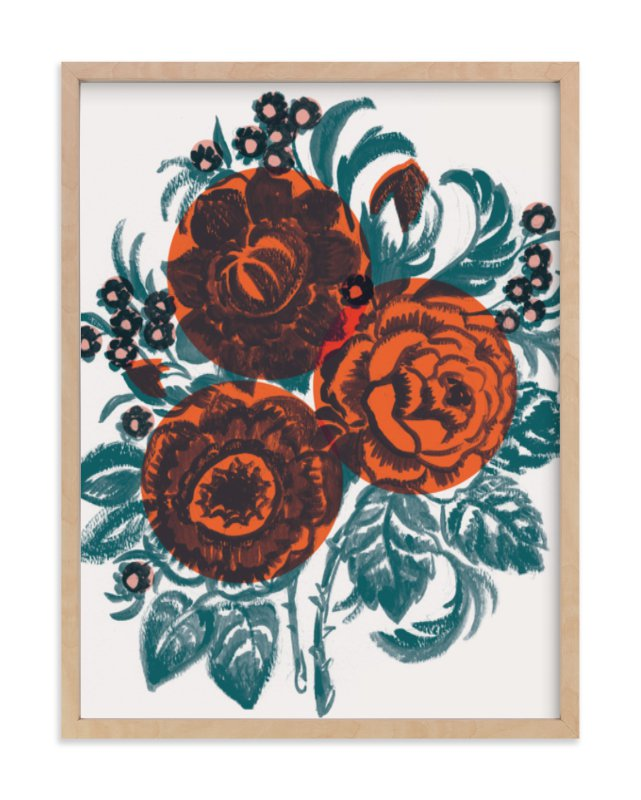 """Dora's Floral"" - Limited Edition Art Print by Jill De Haan in beautiful frame options and a variety of sizes."