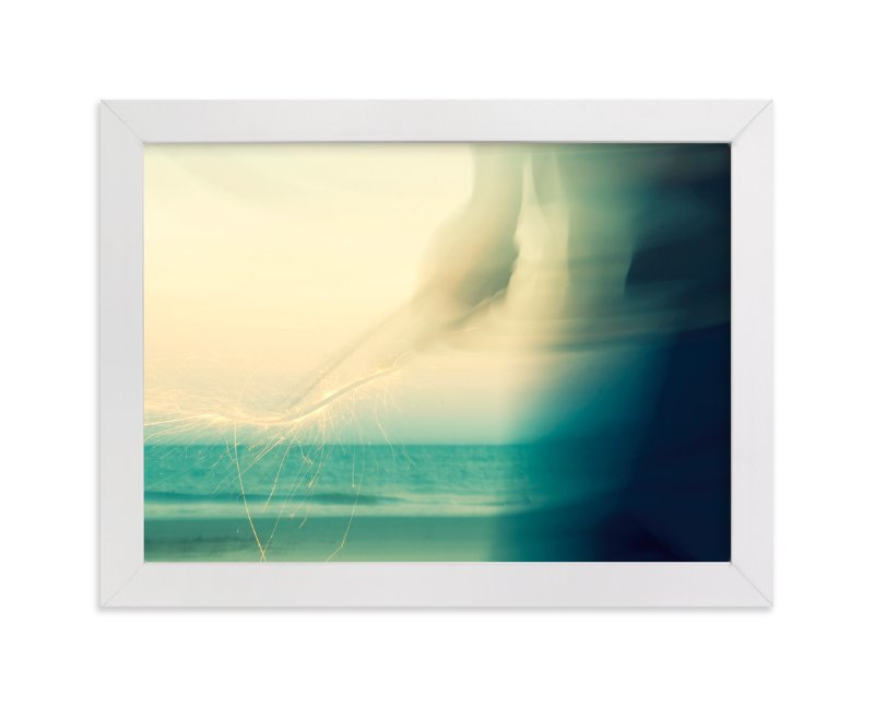 """""""Abstract Beach Sparkler"""" - Limited Edition Art Print by Whitney Deal in beautiful frame options and a variety of sizes."""