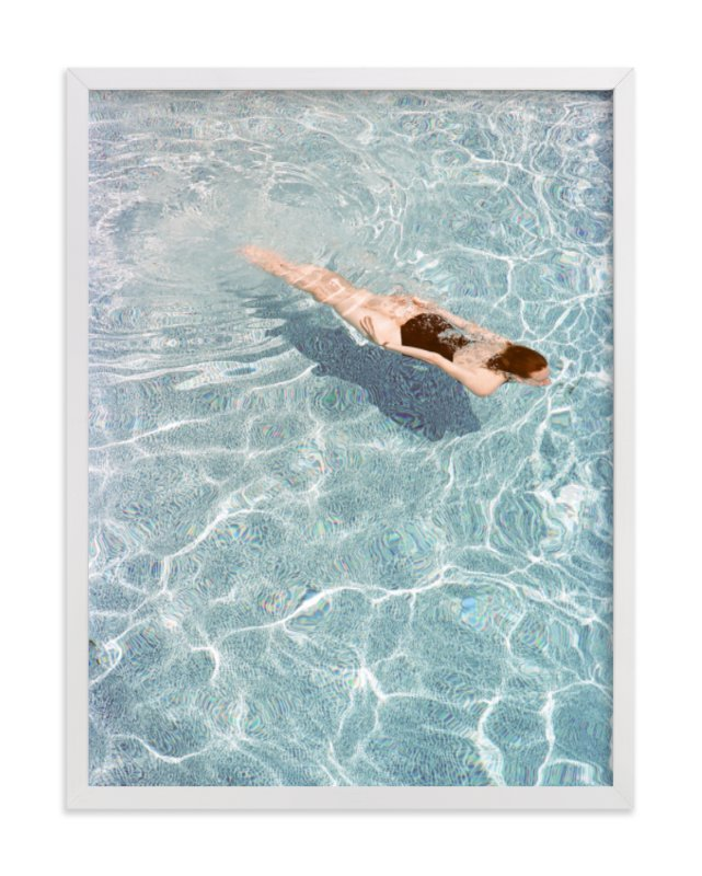 """Going for a Swim"" - Limited Edition Art Print by Whitney Deal in beautiful frame options and a variety of sizes."