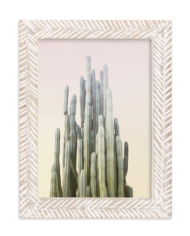 """Summer Yellow Cactus"" - Limited Edition Art Print by Wilder California in beautiful frame options and a variety of sizes."
