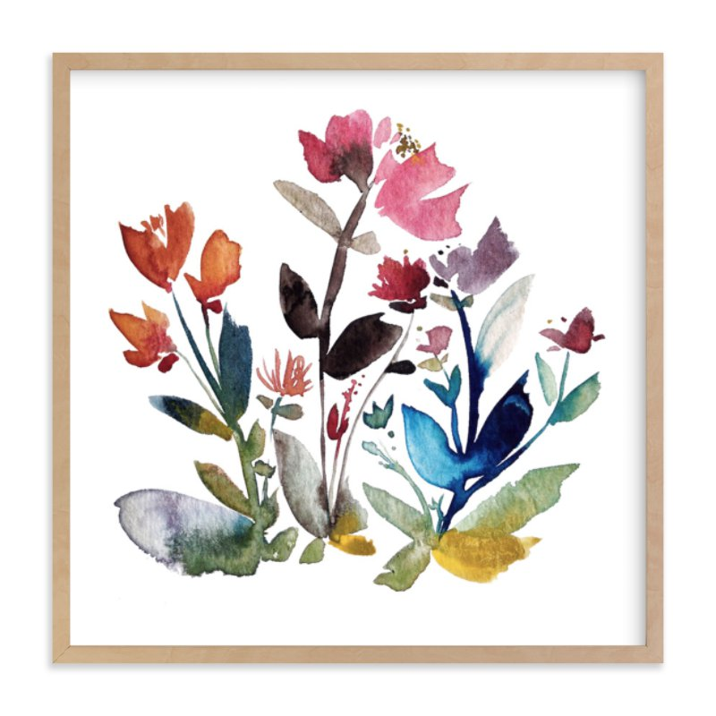 """""""island wildflowers no.3"""" - Limited Edition Art Print by Kiana Mosley in beautiful frame options and a variety of sizes."""