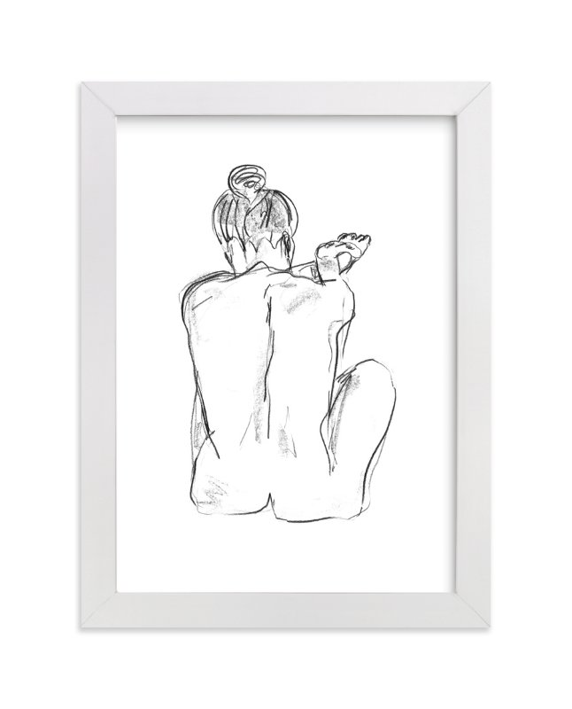 """""""Stretching"""" - Art Print by Miranda Mol in beautiful frame options and a variety of sizes."""