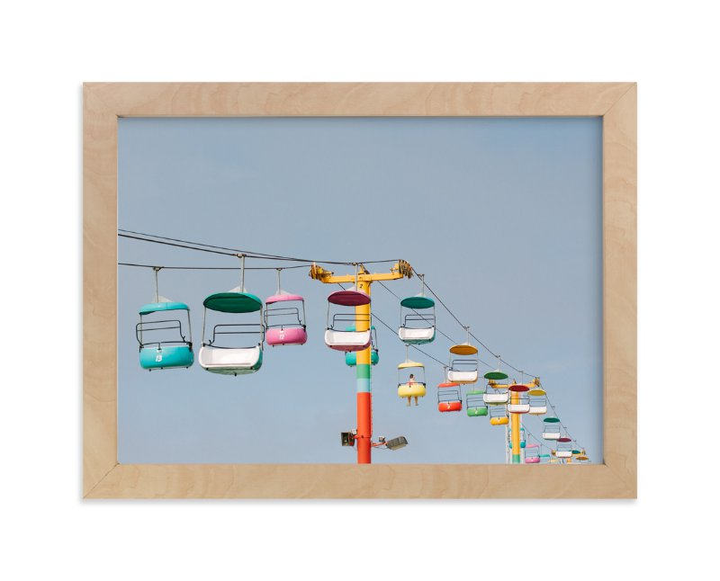 """Boardwalk Brights"" - Art Print by Janel Galvez in beautiful frame options and a variety of sizes."