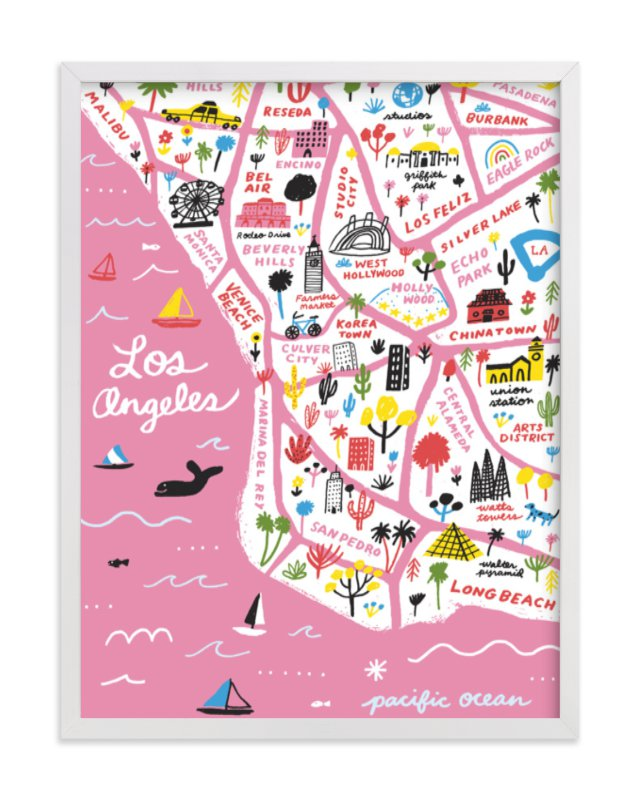 """I Love Los Angeles"" - Limited Edition Art Print by Jordan Sondler in beautiful frame options and a variety of sizes."