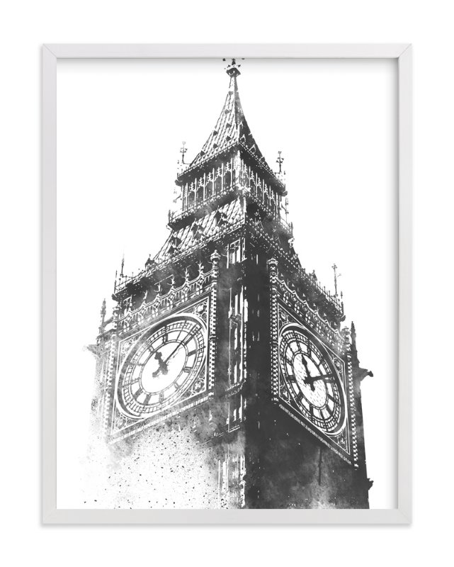 """""""Big Ben"""" - Limited Edition Art Print by Paul Berthelot in beautiful frame options and a variety of sizes."""