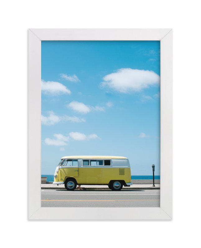 """""""Yellow Van II"""" - Limited Edition Art Print by Jennifer Little in beautiful frame options and a variety of sizes."""