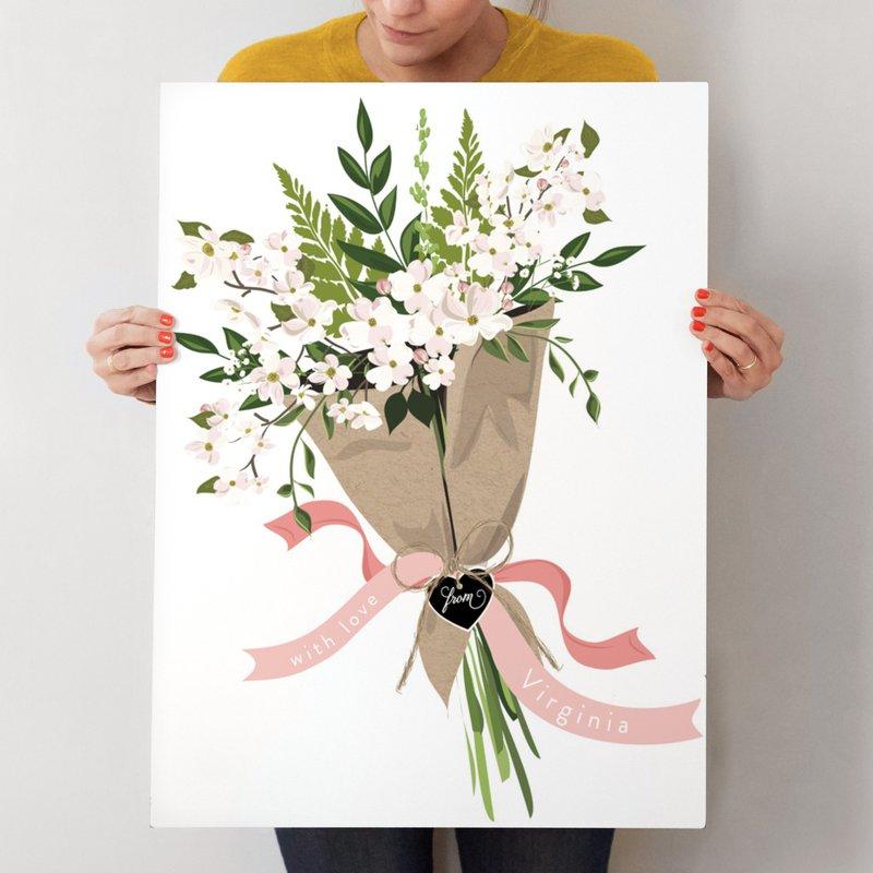 Virginia Dogwood Bouquet Wall Art Prints by Susan Moyal | Minted