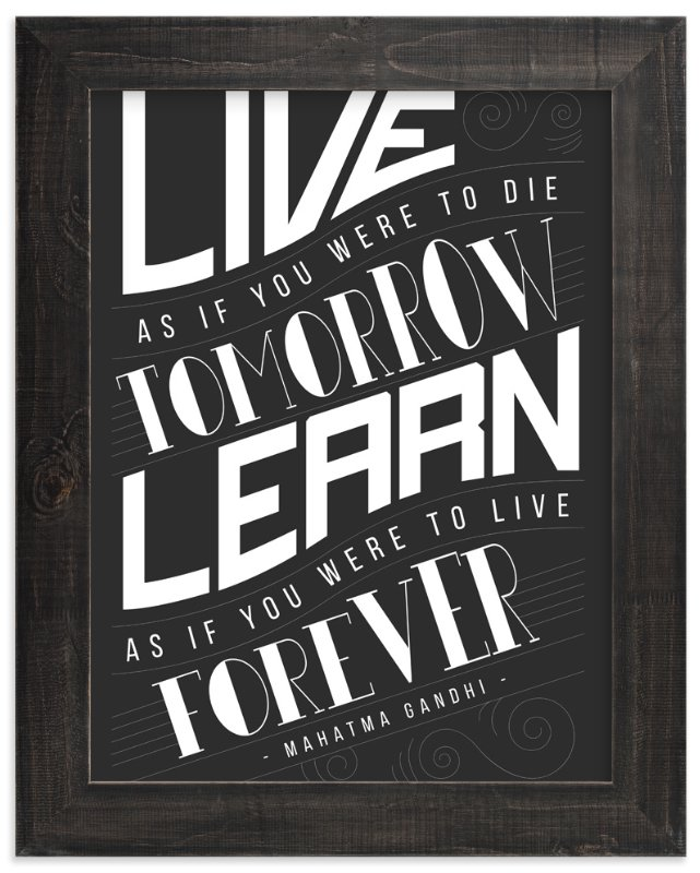 """How To Live And Learn"" - Limited Edition Art Print by Mai Jimenez in beautiful frame options and a variety of sizes."