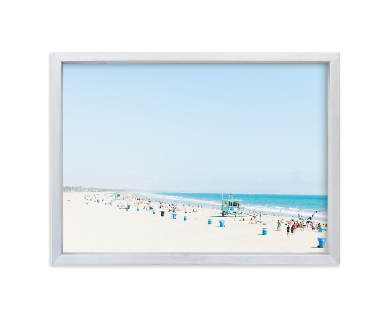 """""""Santa Monica Blues"""" - Limited Edition Art Print by Jessica Cardelucci Nugent in beautiful frame options and a variety of sizes."""