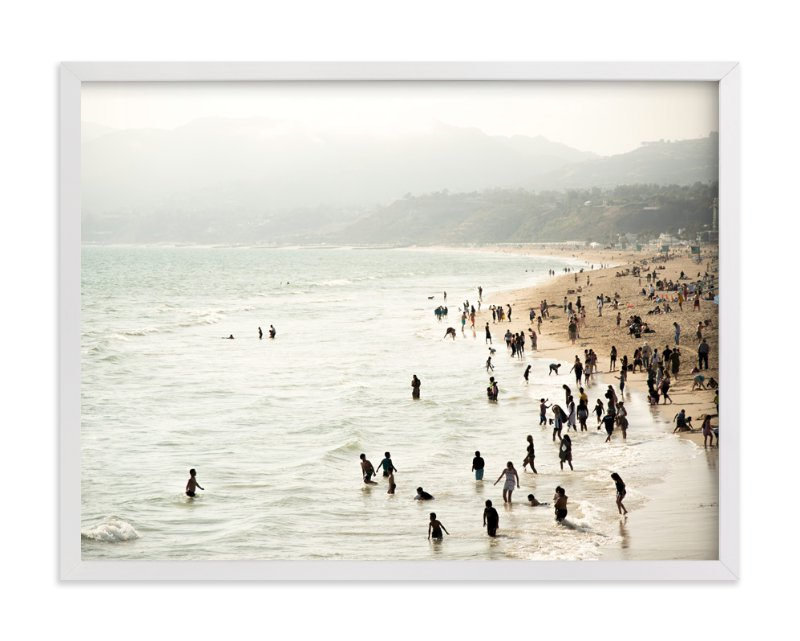 """Seaside Contrast"" - Limited Edition Art Print by Emmy Hagen in beautiful frame options and a variety of sizes."