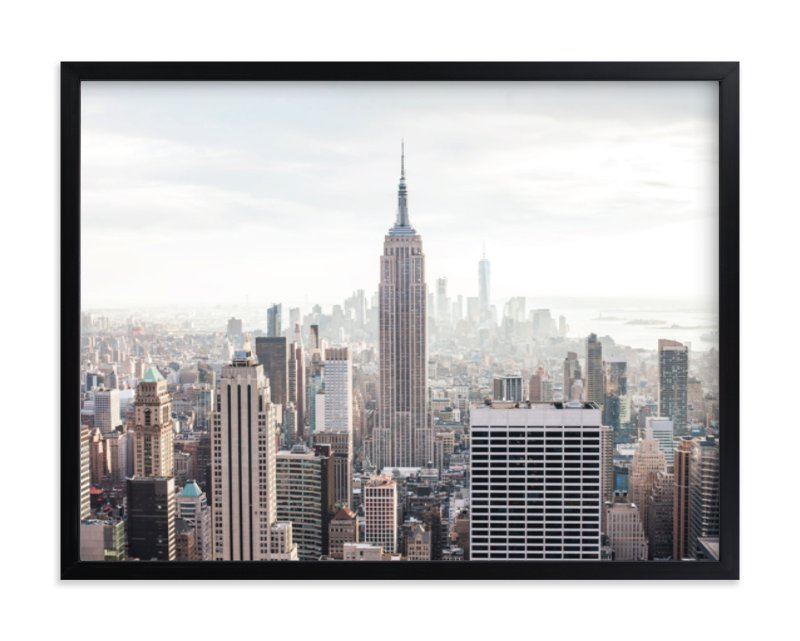 """""""But First, NYC"""" - Limited Edition Art Print by Natalie Uprichard in beautiful frame options and a variety of sizes."""