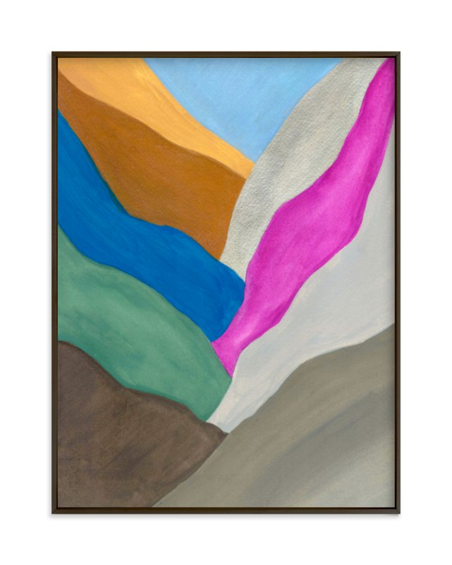 """""""Abstract Mountain II"""" - Limited Edition Art Print by Hilary Hahn in beautiful frame options and a variety of sizes."""