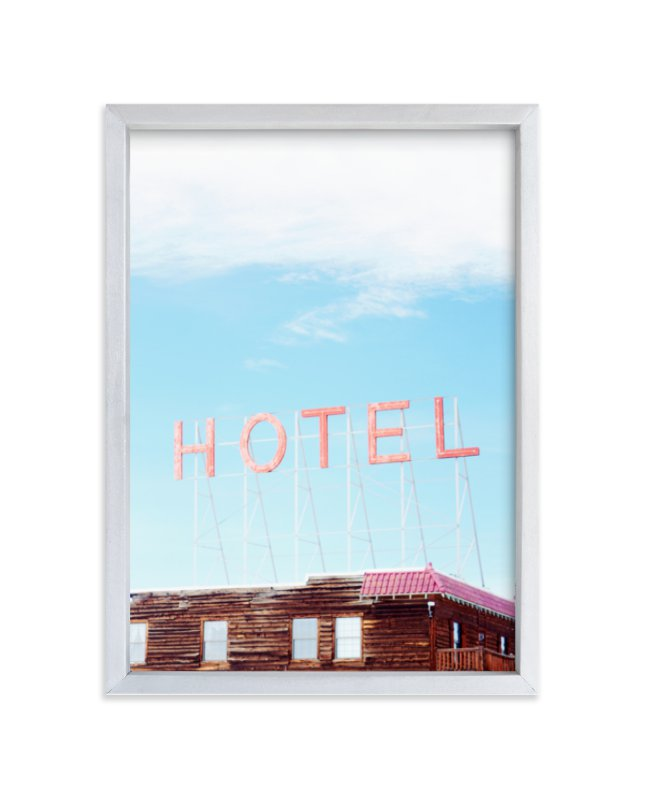 """""""Hotel"""" - Limited Edition Art Print by Jamie Lollback in beautiful frame options and a variety of sizes."""