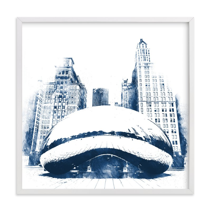 """Chicago Bean"" - Limited Edition Art Print by Paul Berthelot in beautiful frame options and a variety of sizes."