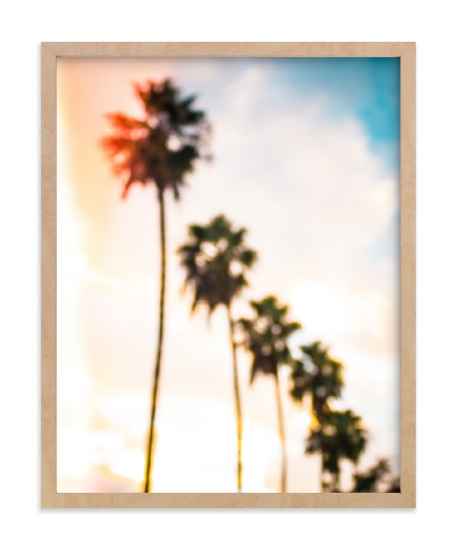 """LA Palms"" - Limited Edition Art Print by Kate Baird in beautiful frame options and a variety of sizes."