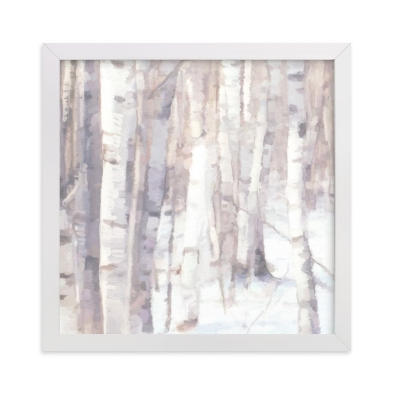 """""""Winter Birches"""" - Limited Edition Art Print by Amy Hall in beautiful frame options and a variety of sizes."""