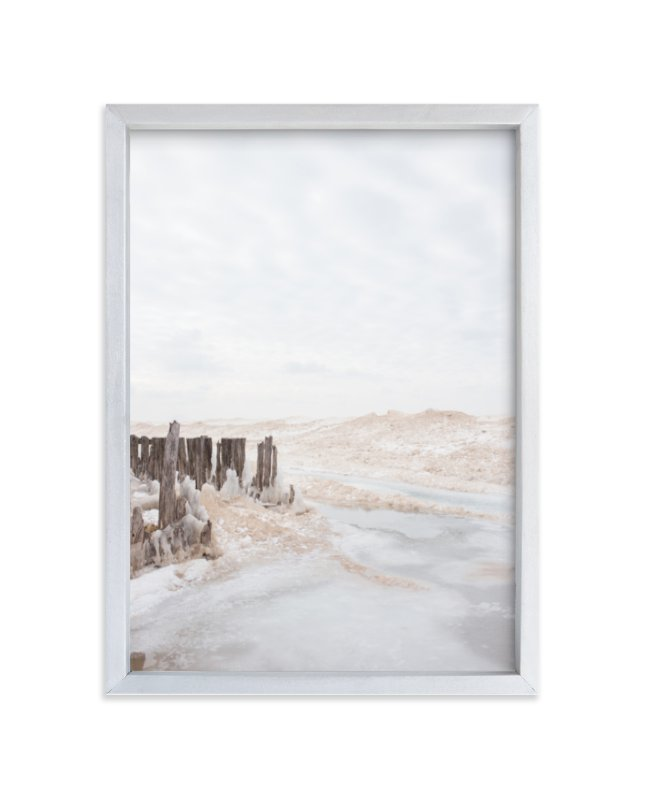 """""""Iced Lake"""" - Limited Edition Art Print by jessi gilbert in beautiful frame options and a variety of sizes."""